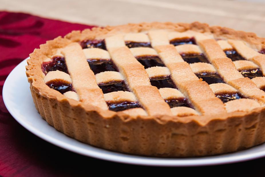 Italian Crostata di Lamponi - Raspberry tart