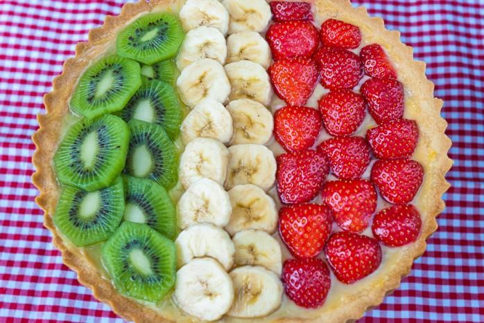 Custard Cream & Summer Fruit Tart