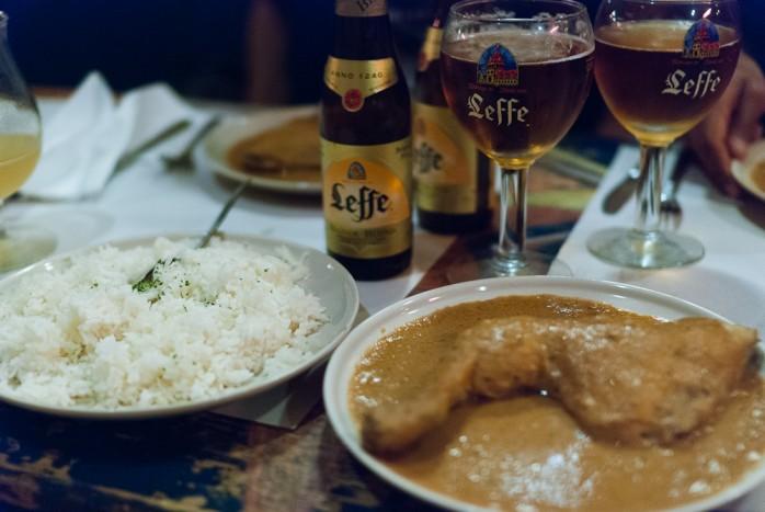 dinner at Soleil d'Afrique