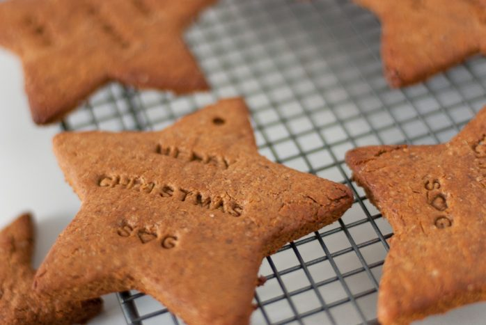 Christmas Gingerbread Cookies with Kamut Flour and Almond Butter