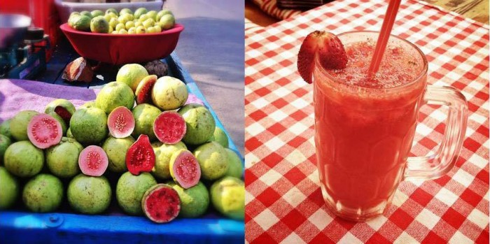 Eating and drinking fresh fruit every day! My new favourite drink: fresh strawberry juice.
