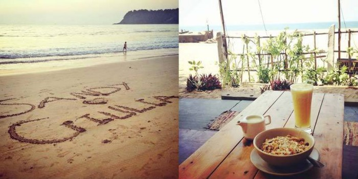 Escaping to Agonda beach in south Goa and relax by the beach, eating homemade muesli and drinking fresh pineapple juice!