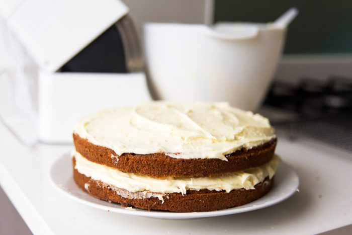 Carrot and Walnut Cake with Cream Cheese Frosting