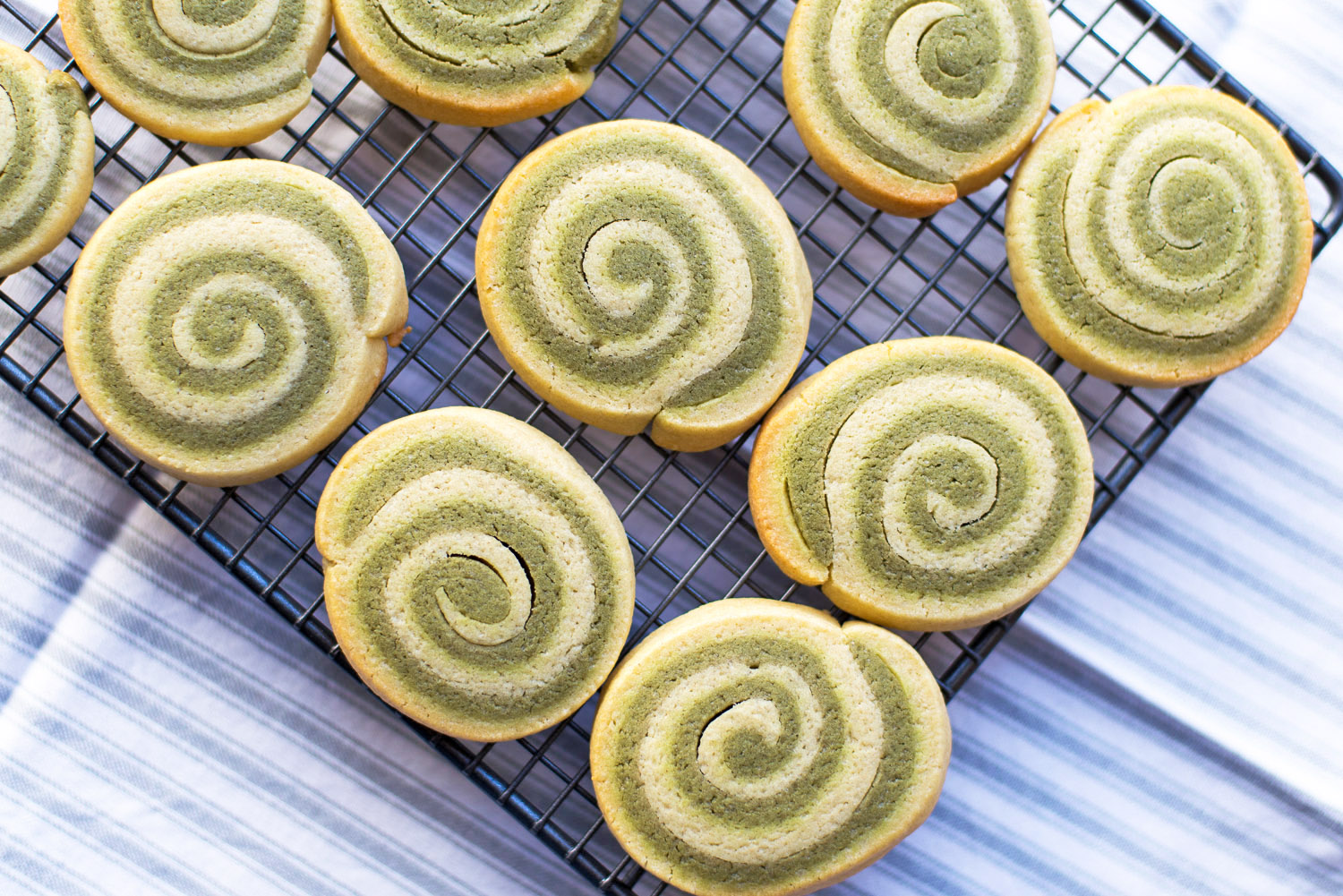 Matcha Green Tea Pinwheel Cookies