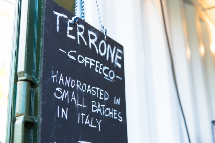 Terrone Coffee, at Netil Market in Hackney, London