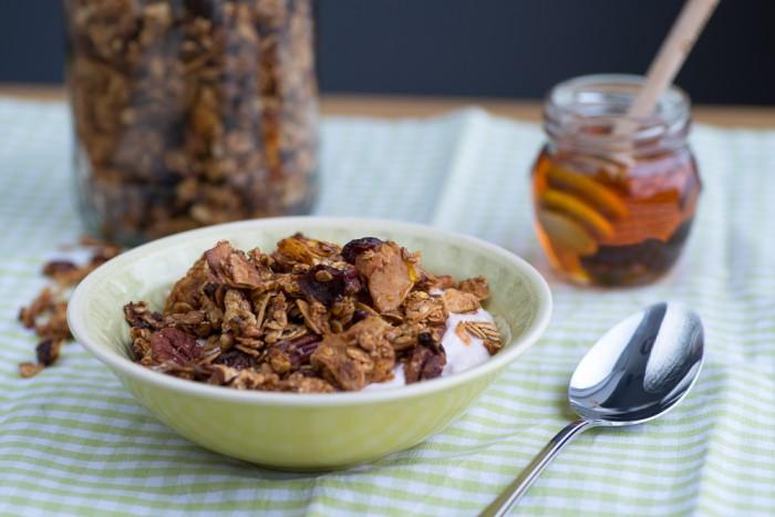 Homemade Honey Granola   Recipe by Mondomulia