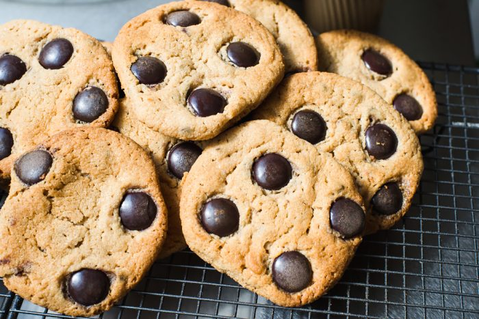 Chocolate Chip Cookies with Galaxy Minstrels chocolate buttons