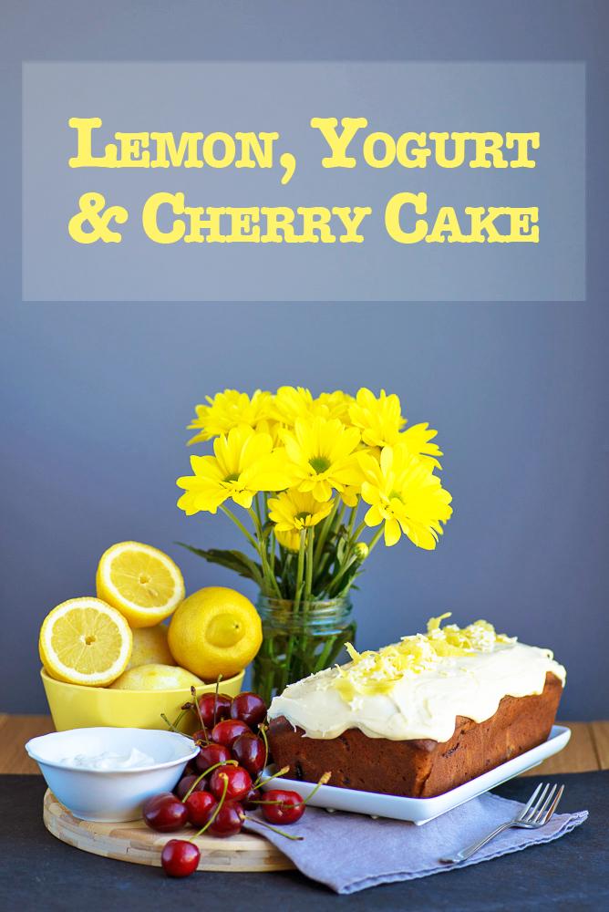Lemon Yogurt Cherry Cake