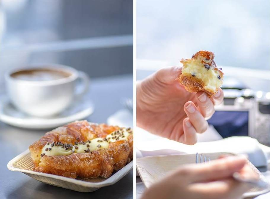 Coffee and Cronuts at Duck and Waffle in London