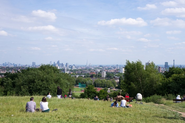 Picnic at Hampstead Heath in London