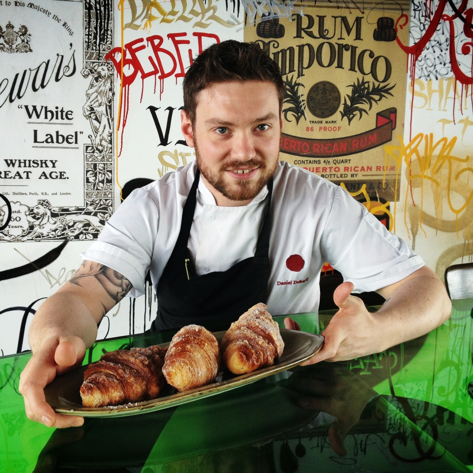 Dan Doherty at Duck and Waffle in London