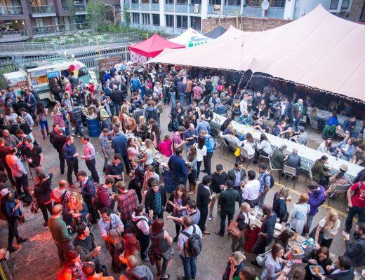Street Feast food market at Merchant Yard, East London