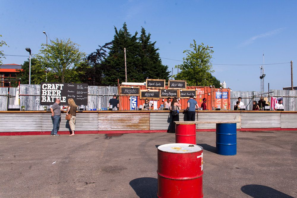 Truck Stop food market at Wool Wharf in London