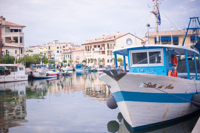 The picturesque port in the old town of Grado.