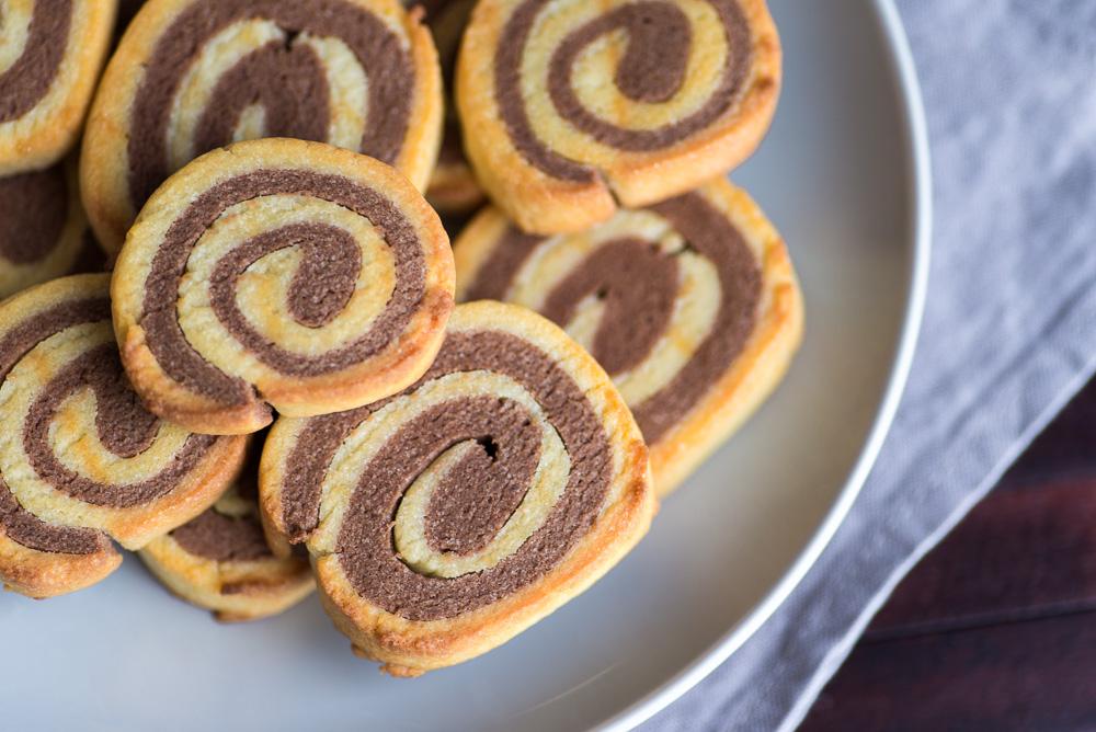 Double Chocolate Pinwheel Cookies