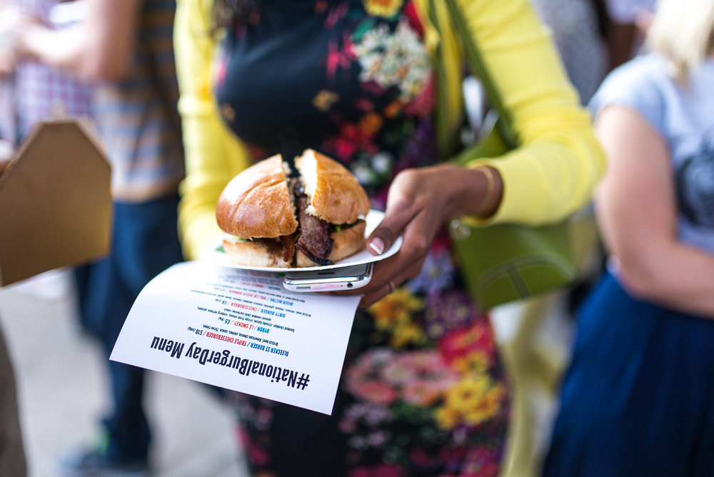 National Burger Day at Street Feast in Dalston Yard, London