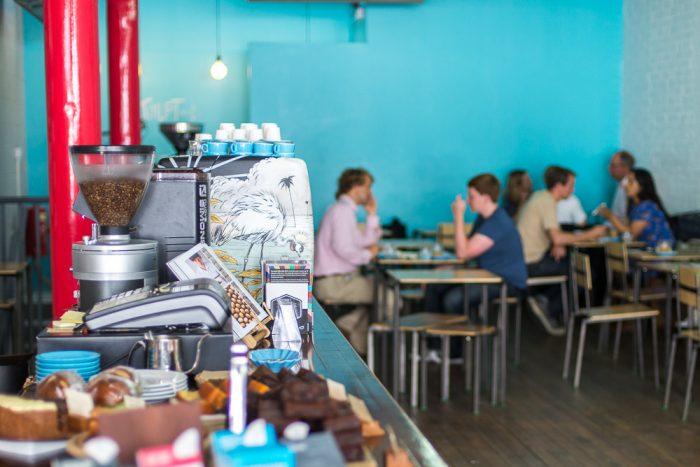 Prufrock Coffee in Leather Lane, East London