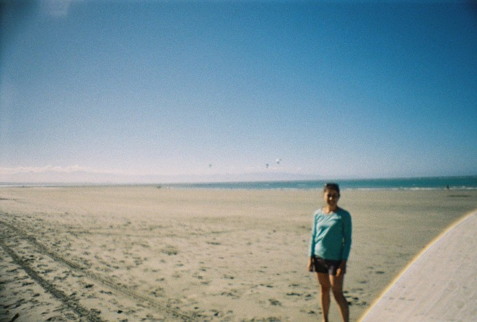 The beach in Nelson, New Zealand