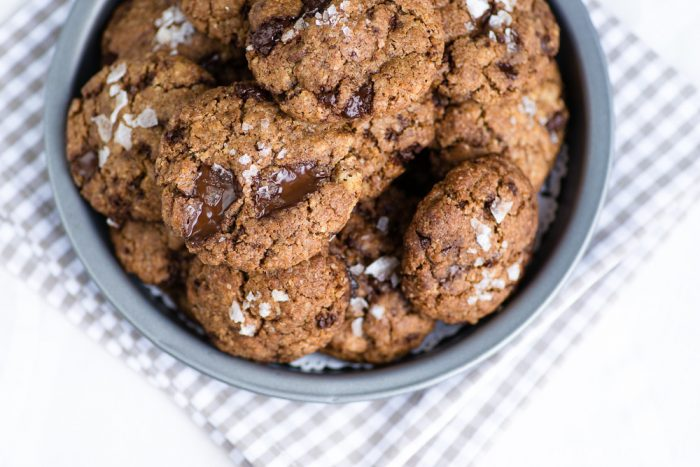 Izy Hossack's Best Chocolate Chip Cookies with Basil Brown Butter & Sea Salt