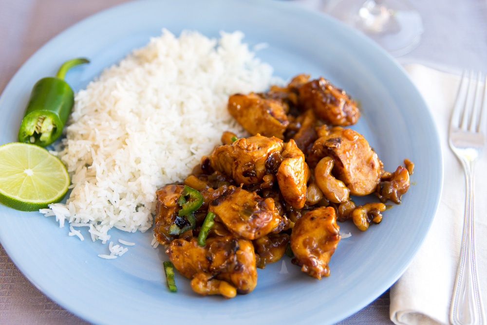 Creamy Coconut Chicken with Cashews and Soy Sauce