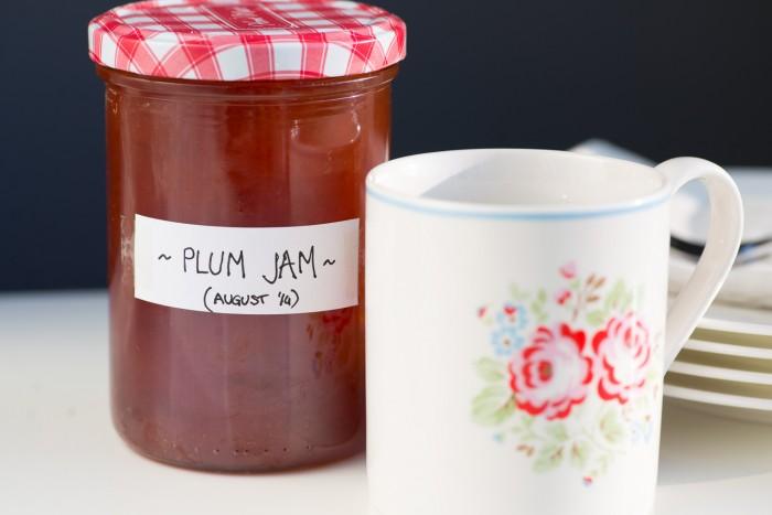 Plum jam homemade