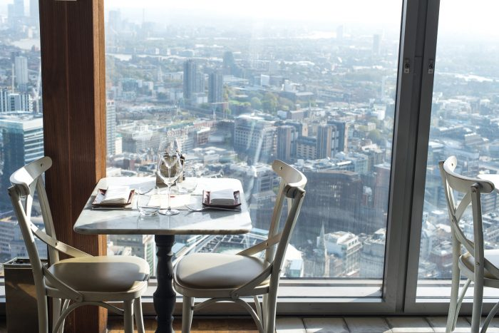 Lunch with a view at Duck and Waffle restaurant in London