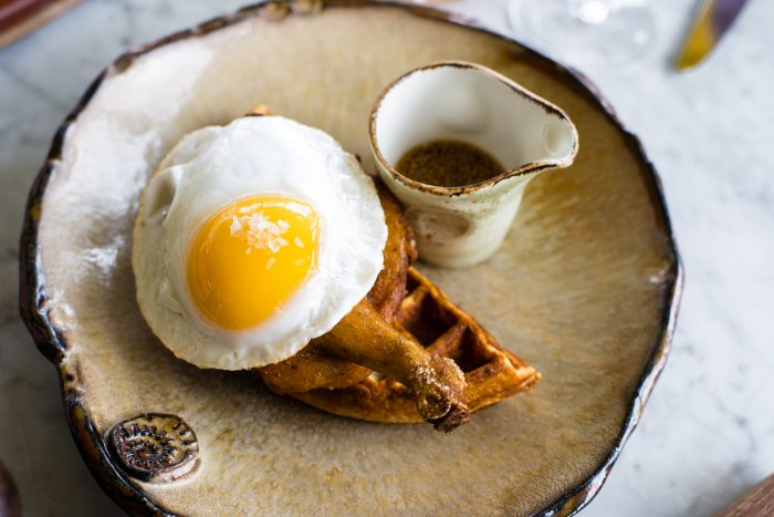 Review of the lunch menu and signature dishes at Duck and Waffle in London