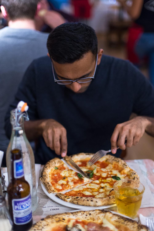 Franco Manca Pizzeria in East Dulwich, London