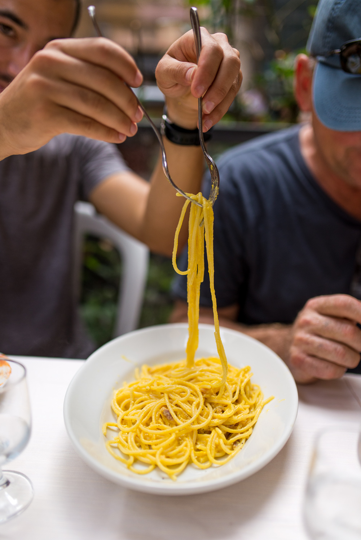Spaghetti in Rome Trastevere
