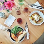 Baked Eggs, Quinoa Pancakes and Square Mile filter coffee for…