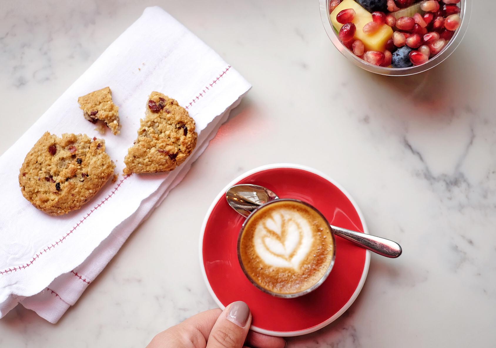 Cortado coffee at London Grind