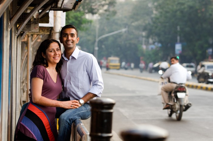 Couple on a romantic date in Mumbai, India