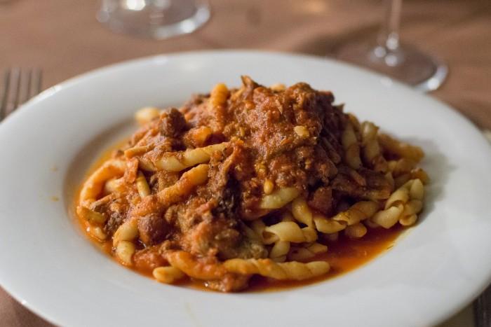Busiate alla Trapanese pasta in Trapani, Sicily