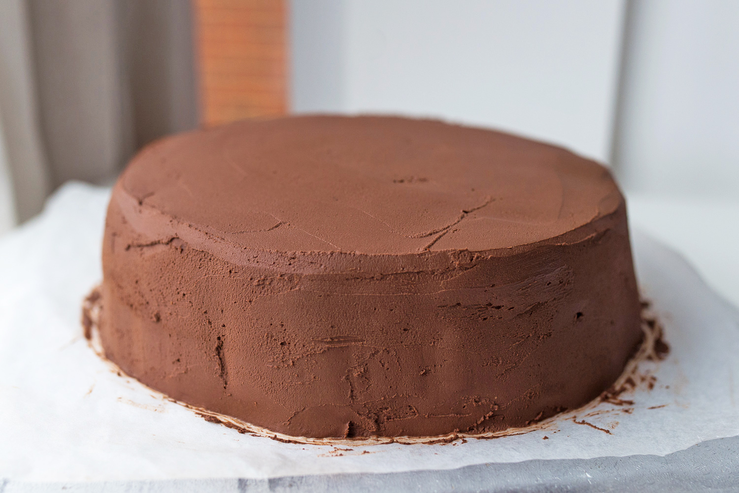 Espresso Cake with Bitter Chocolate & Sour Cream Frosting