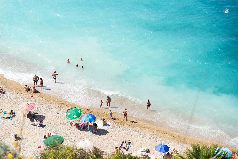 The beach in Scopello, Western Sicily