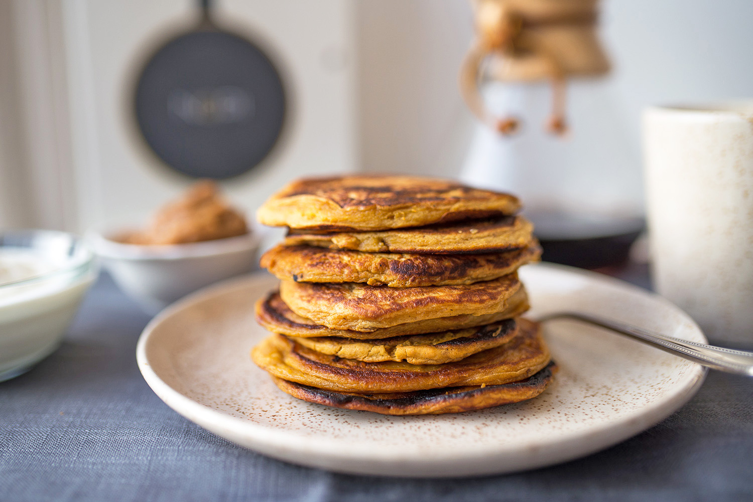 Sweet Potato Pancakes with yoghurt and date syrup by Yotam Ottolenghi #mondomulia