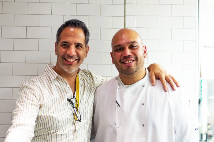 Ramael Scully and Yotam Ottolenghi at Nopi in London