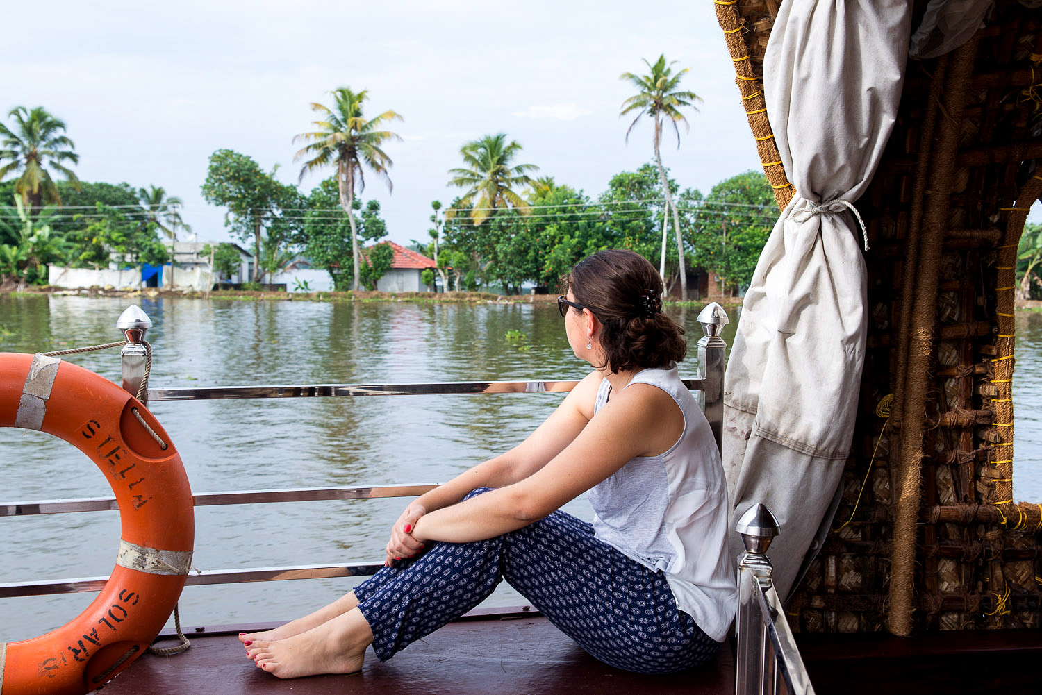 Cruising along the backwaters in Alleppey in Kerala