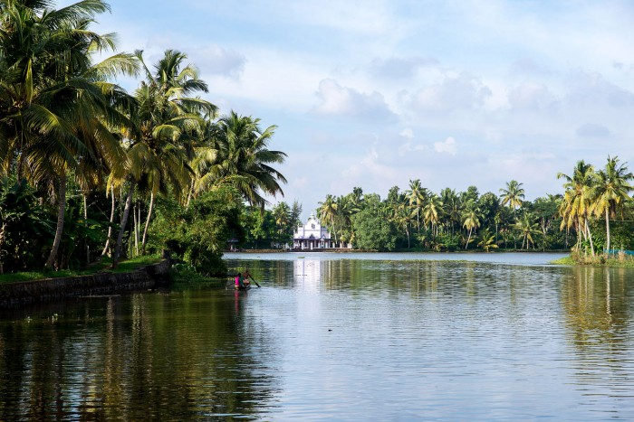 The backwaters in Alappuzha (or Alleppey) in Kerala