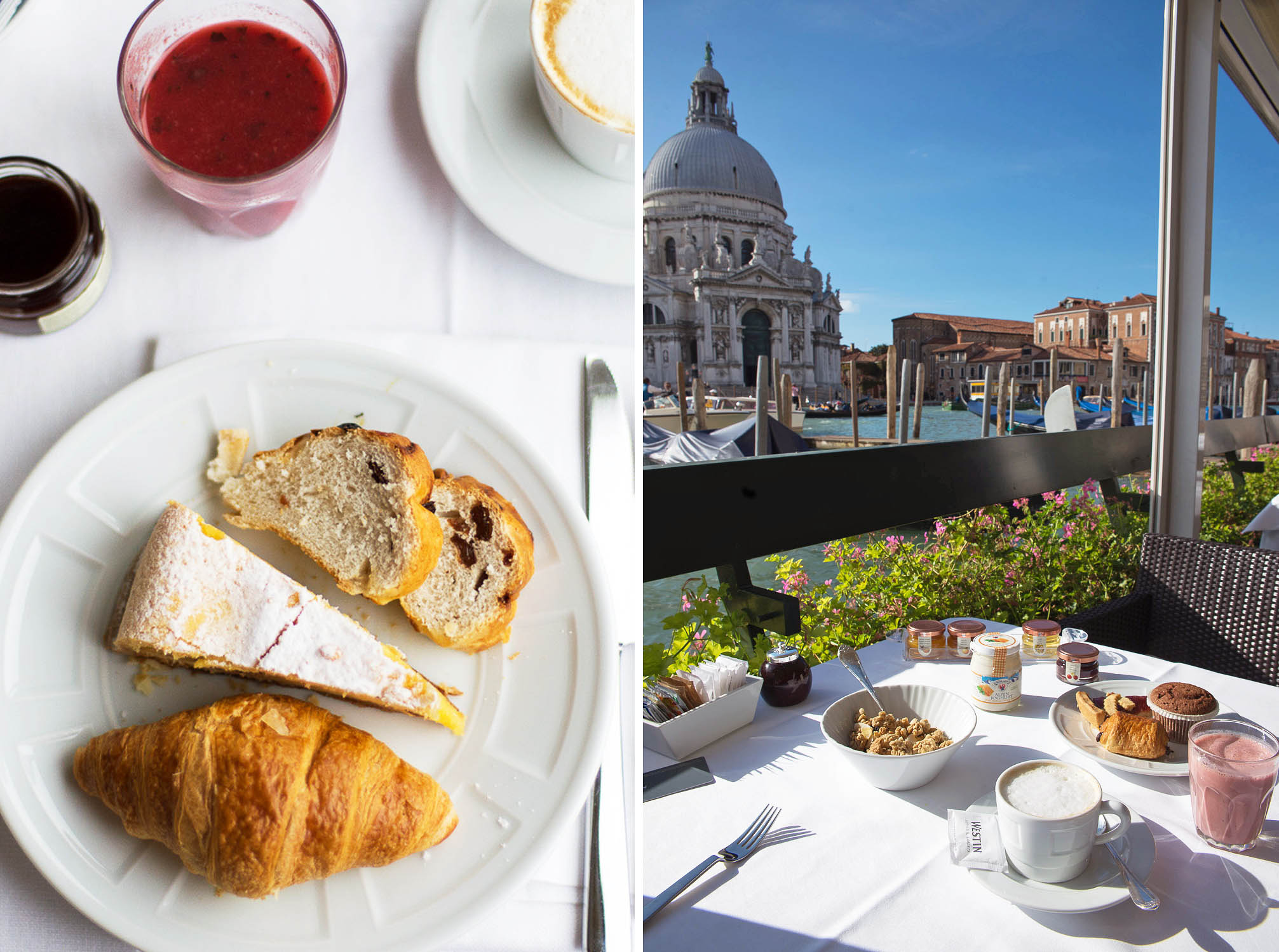Breakfast on the terrace at Westin Hotels & Resorts - Westin Europa and Regina in Venice