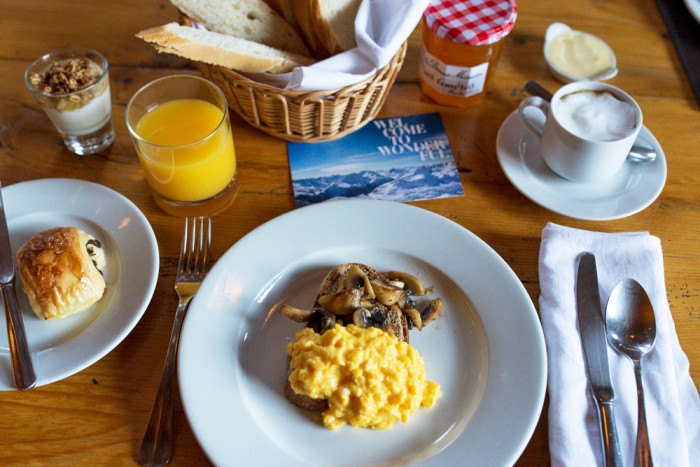 Breakfast at Chalet Eagle's Nest in Val d'Isere