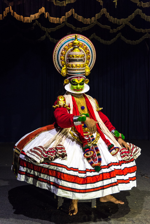 Kathakali show in Fort Kochi, Kerala