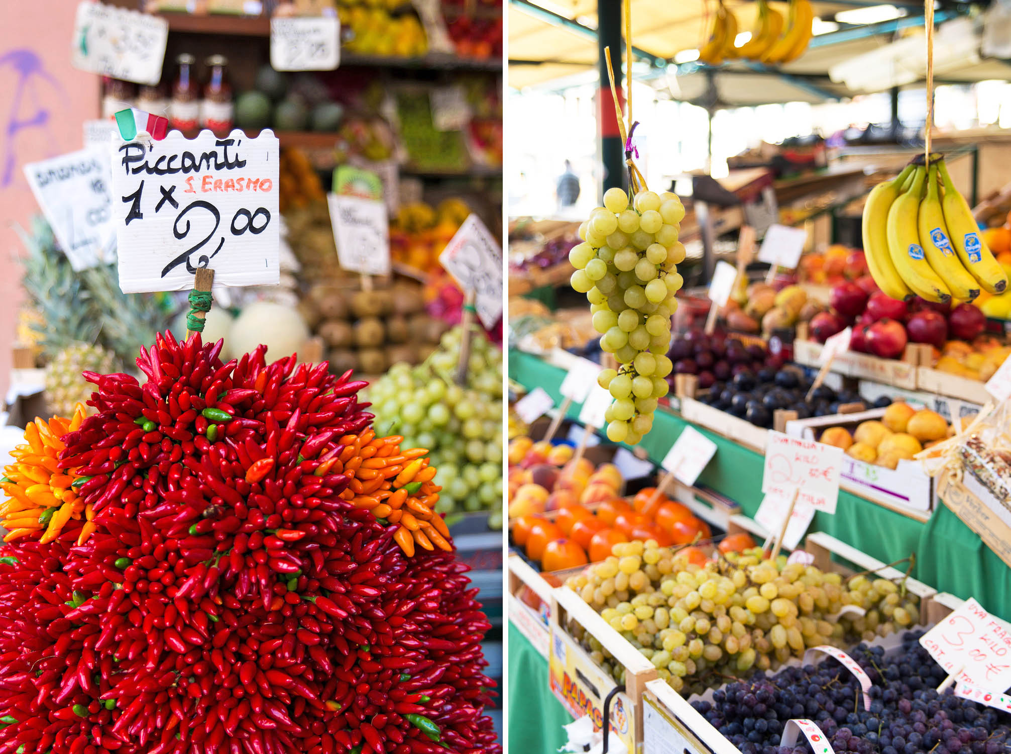 Rialto market in Venice, Italy. Westin Europa and Regina in Venice Personal Food Shopper Tour