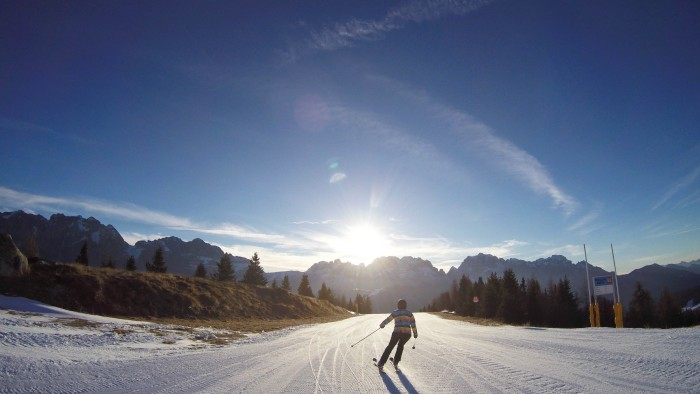 Ski in Trentino at Pradalago, Madonna di Campiglio.