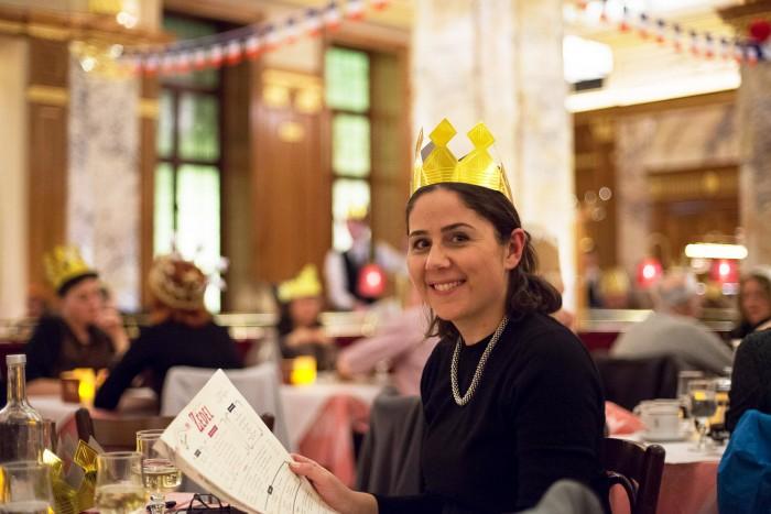 Brasserie Zedel, celebrating La Fete des Rois in London