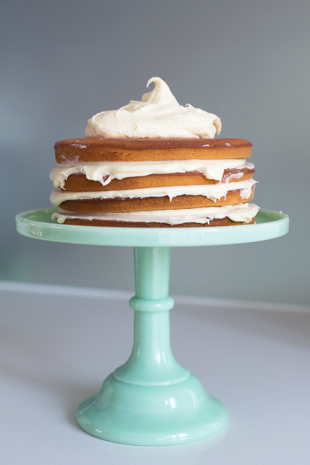 Ombre White Chocolate Mud Cake