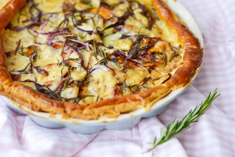 Sweet Potato, Gruyere & Rosemary tart