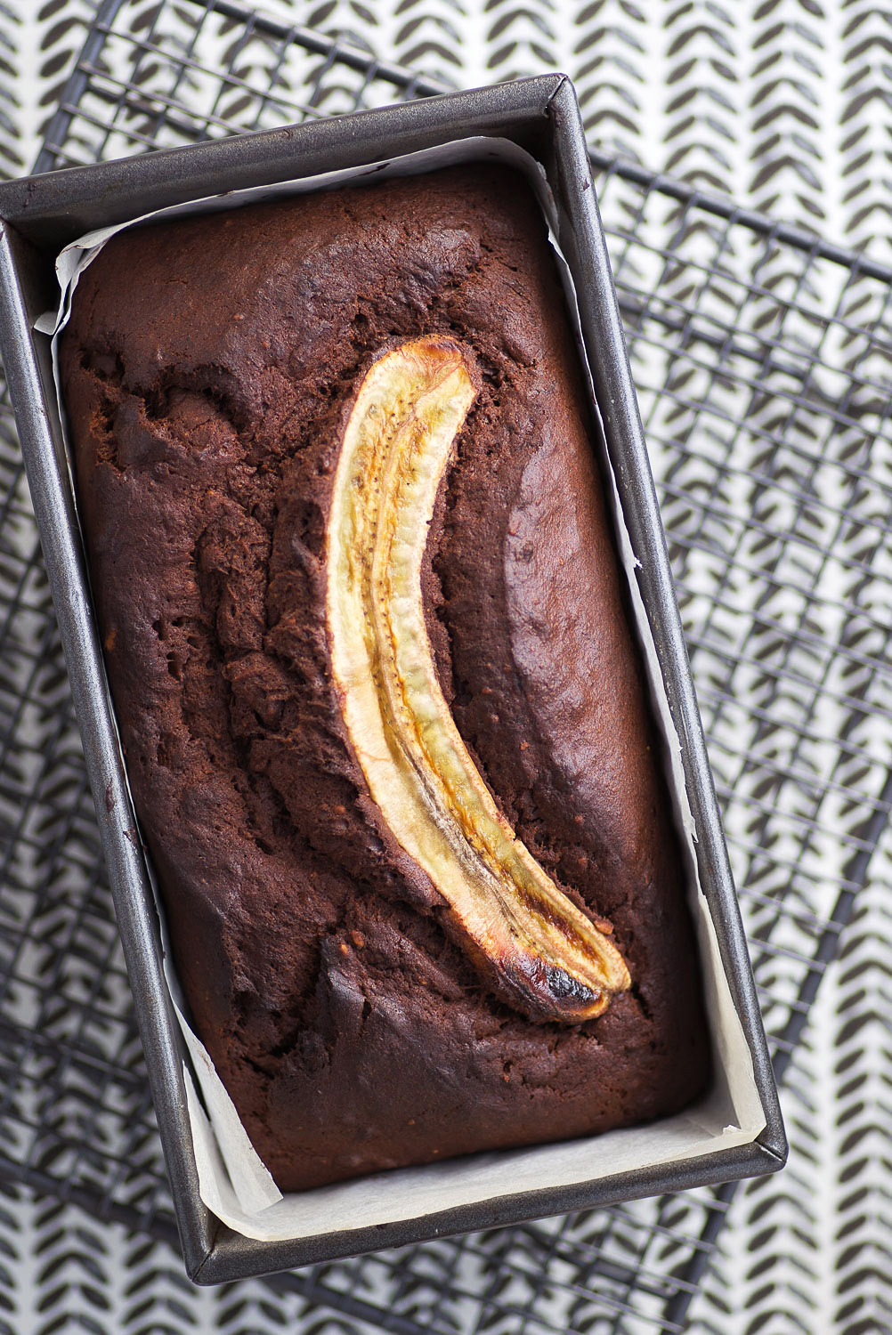 Chocolate Peanut Butter Banana Bread recipe | Photography Mondomulia