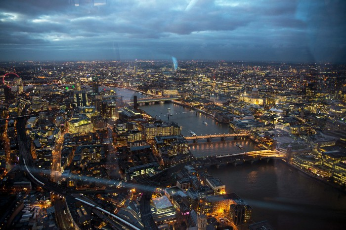 The View From The Shard by Night, London, December 2015