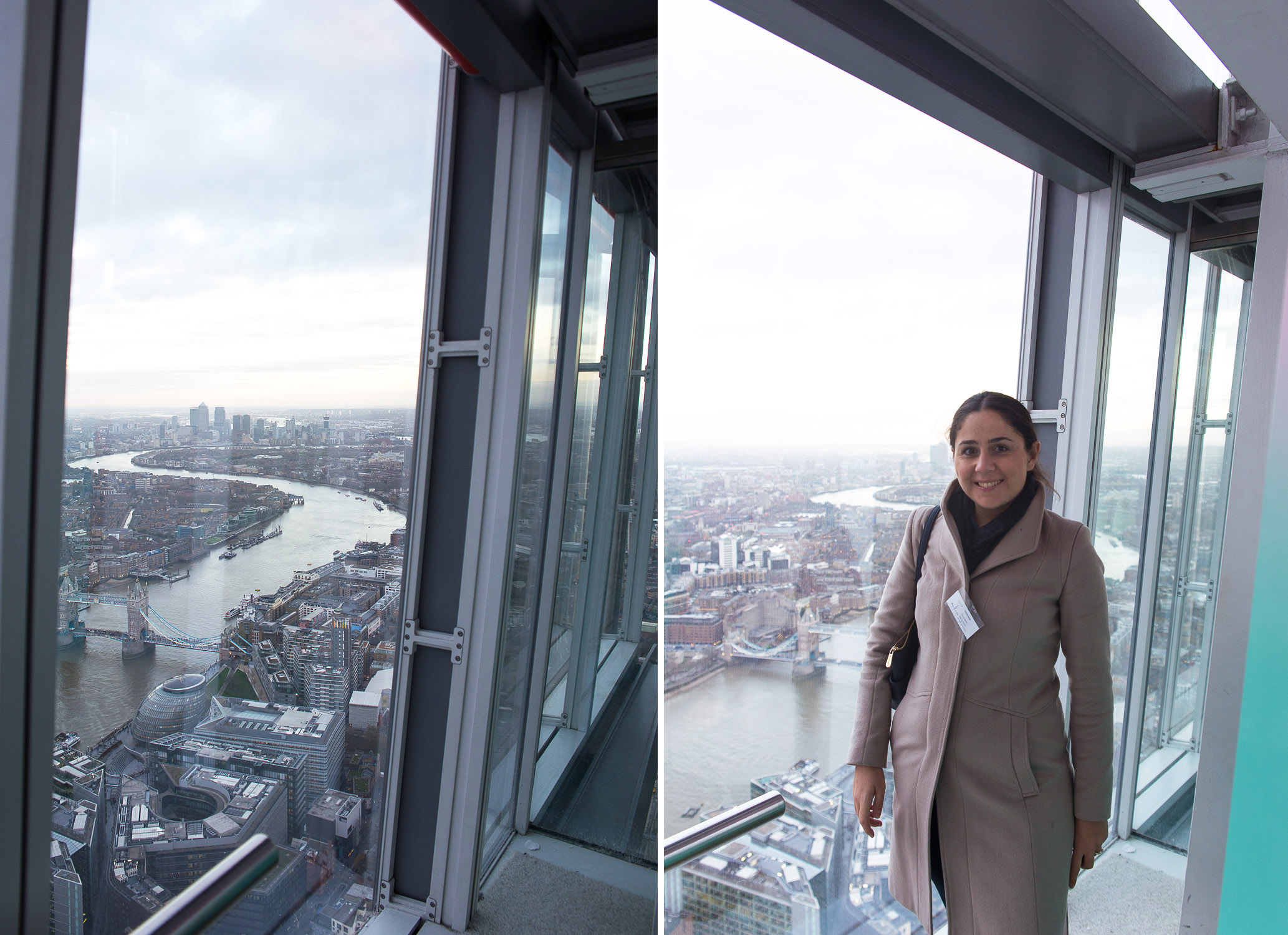 The View from The Shard (east side, looking out to Canary Wharf). London